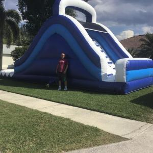18ft Blue Waterslide