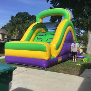 NEW!!! 15ft Purple and Yellow waterslide $180